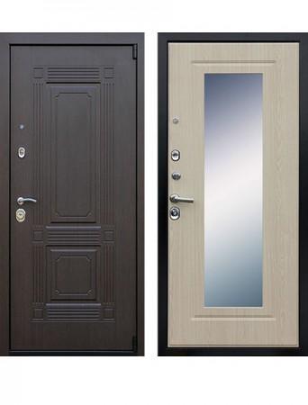 Дверь АСД Викинг с зеркалом Беленый дуб