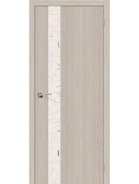 Дверь Порта-51 Бьянко Капучино с зеркалом