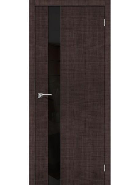 Дверь Порта-51 Венге Кросскут со стеклом