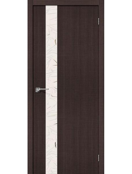 Дверь Порта-51 Венге Капучино с зеркалом