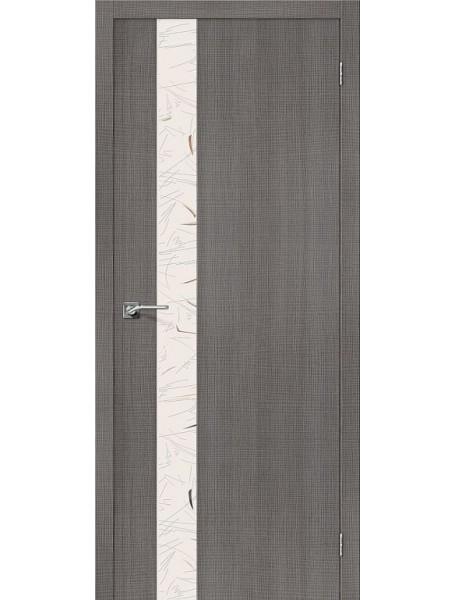 Дверь Порта-51 Грей Капучино с зеркалом