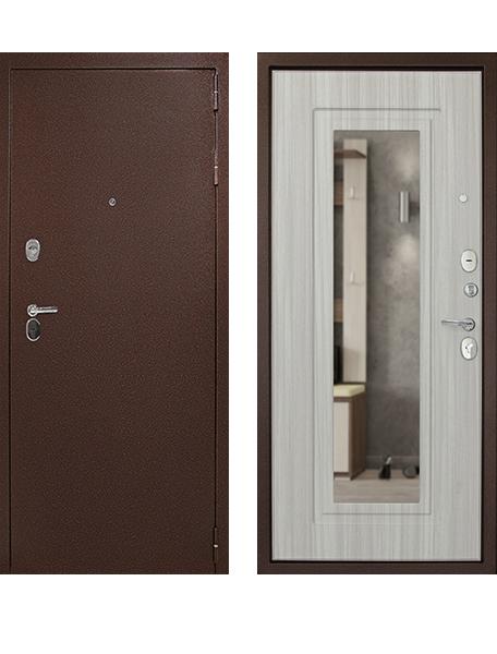 Дверь Дверной Континент Рубикон Зеркало сандал белый