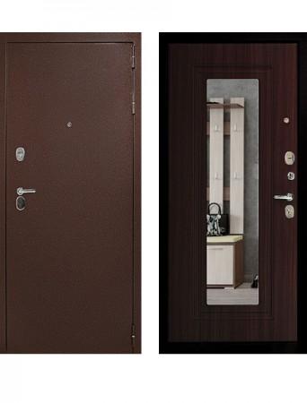 Дверь Дверной Континент Рубикон Зеркало венге
