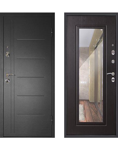 Дверь Дверной Континент Сити Зеркало - 3К Венге