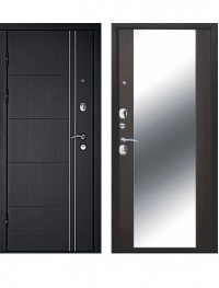 Дверь Дверной Континент Тепло Люкс Зеркало Венге
