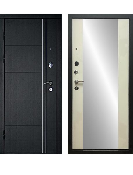 Дверь Дверной Континент Тепло Люкс Зеркало Беленый дуб