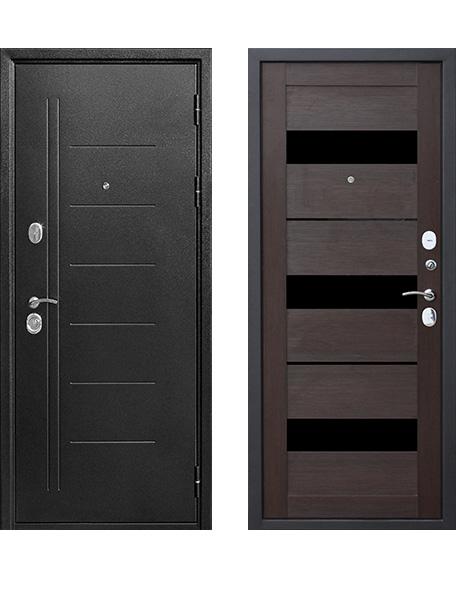 Дверь 10 см Троя Серебро Темный кипарис