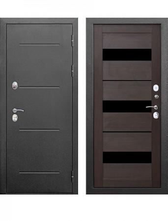 Дверь 11 см ISOTERMA Серебро Темный кипарис