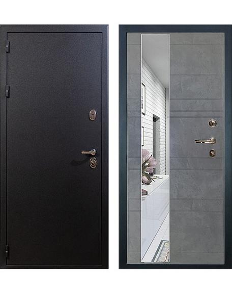 Дверь Лекс Рим с зеркалом Бетон серый