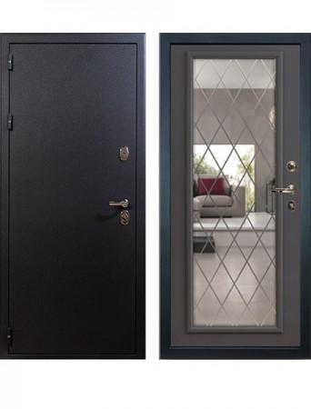 Дверь Лекс Рим с зеркалом Софт графит